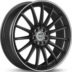 18x8 Ruff Racing R950 Black/Machined Accent HPO