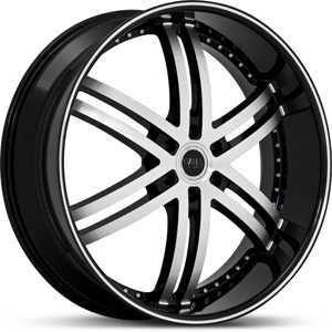 24x10 Status Knight 6 817 Black/Machined Face RWD
