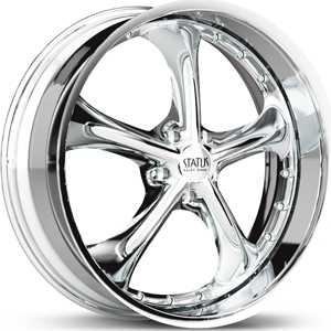 17x7 Status Retro 818 Chrome RWD