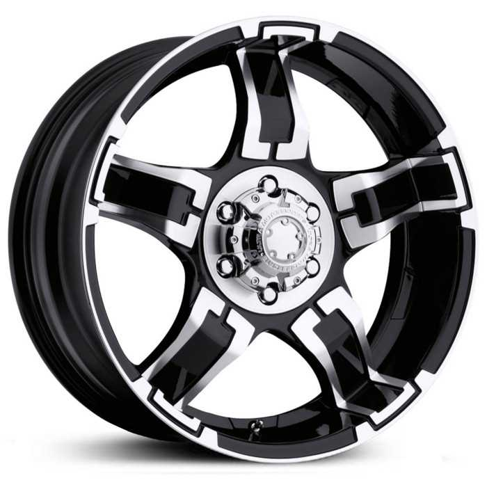 Ultra 193/194B Drifter  Wheels Gloss Black w/ Diamond Cut