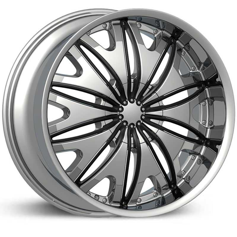Velocity 820  Wheels Chrome w/ Black Inserts