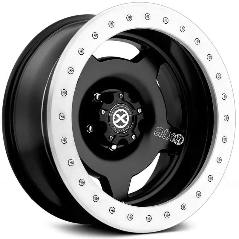 ATX Series AX756 Slab - Off-Road ONLY  Wheels Satin Black w/ 6061 Bead Ring