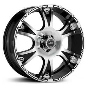 16x8 American Racing Dagger Gloss Black Machined RWD