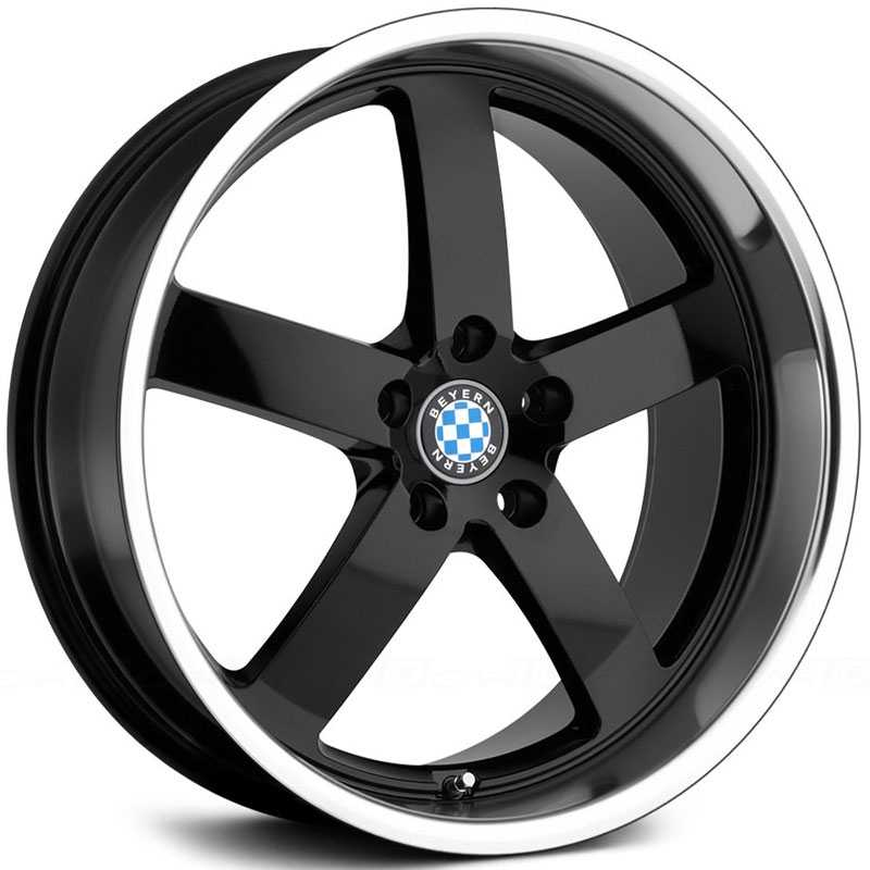 Beyern Rapp  Wheels Gloss Black w/ Mirror Lip
