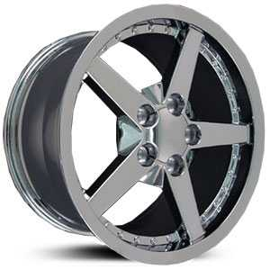Corvette 06  Wheels Chrome w/ Rivets