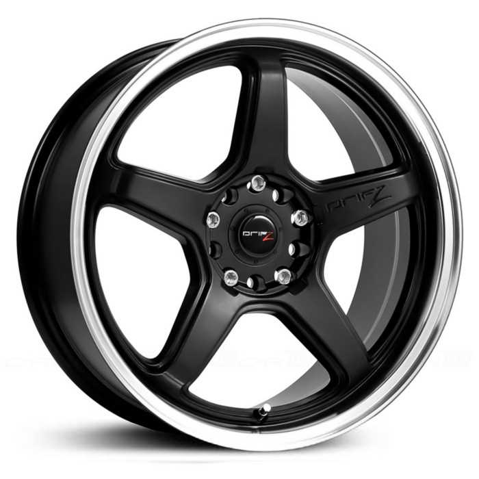 Drifz 304MB Circuit  Wheels Carbon Black w/ Machined Lip