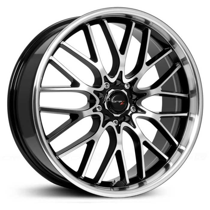 Drifz 302MB Vortex  Wheels Machined Face/Lip w/ Gloss Black Accents