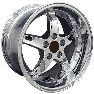 Fits Ford Mustang Cobra Style 5 Lug (FR04)  Wheels Chrome Deep Dish