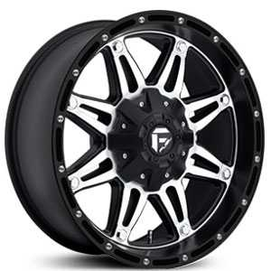 18x9 Fuel Offroad Hostage Black Machined Face REV