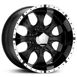 16x8 Helo HE791 Maxx 8 Lug Gloss Black / Machined Lip RWD