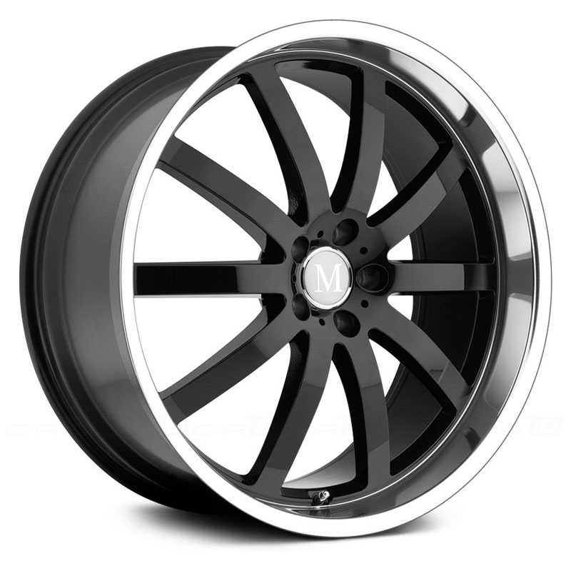 Mandrus Wilhelm  Wheels Gloss Black w/ Mirror Cut Lip
