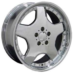 18x9 Mercedes Benz AMG MB06 Chrome with Rivets HPO