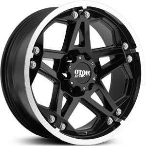 17x8 Moto Metal 960 Gloss Black Machined RWD