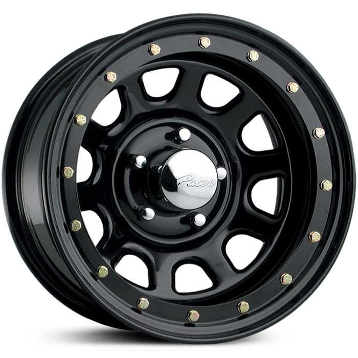 Pacer 252B Street Lock  Wheels Black
