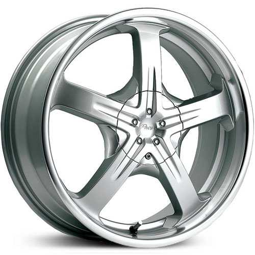 Pacer 774MS Reliant  Wheels Titantium Silver w/ Mirror Lip