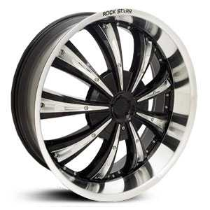 22x8.5 RockStarr Genesis Black w/ Machined Lip MID