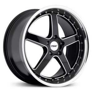 TSW Carthage  Wheels Gloss Black w/ Mirror Lip