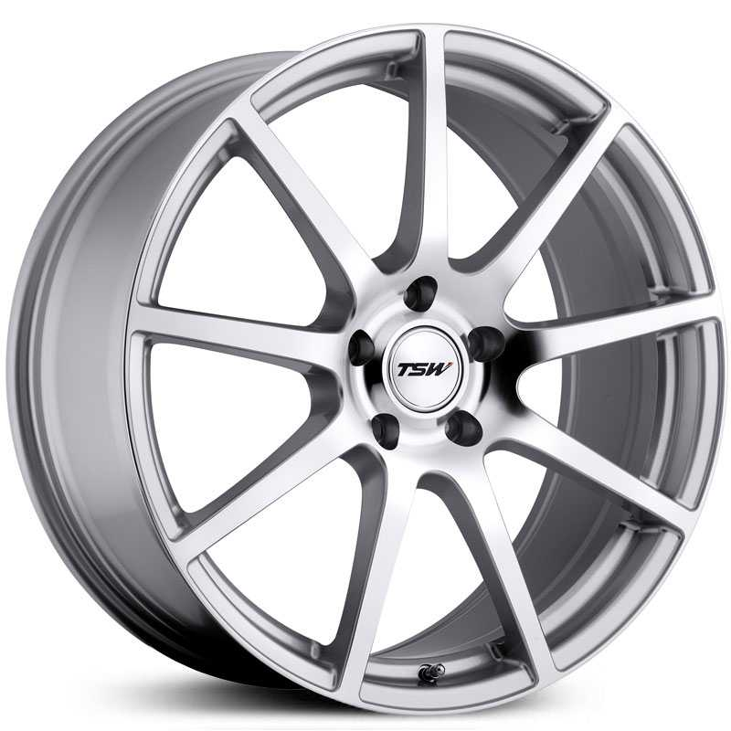 19x9.5 TSW Interlagos RF Silver / Mirror Cut Face HPO