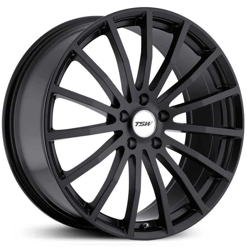 TSW Mallory  Wheels Flat Black 5 Lug