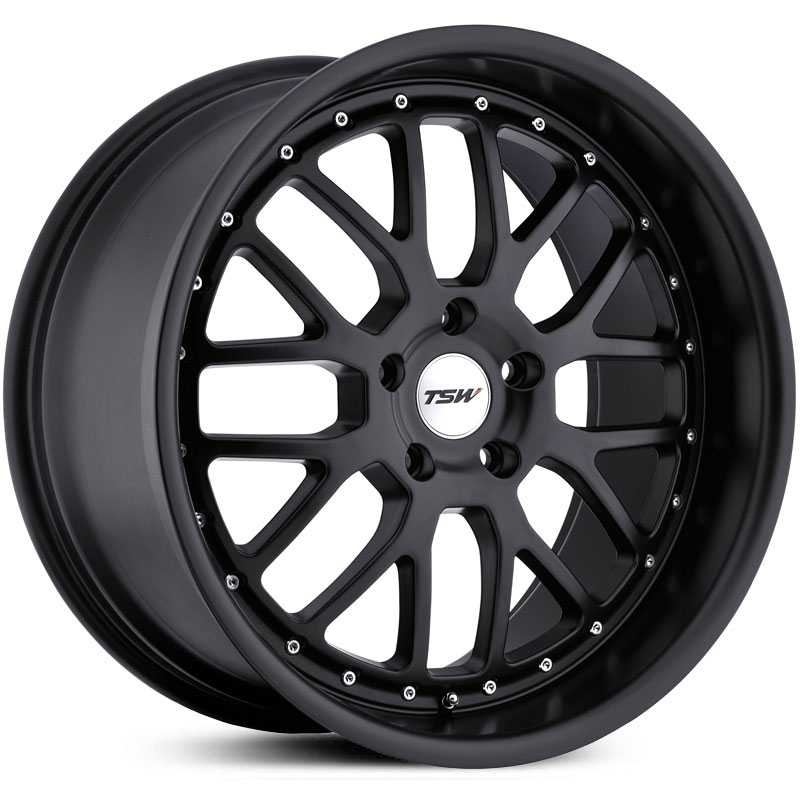 TSW Valencia  Wheels Matte Black