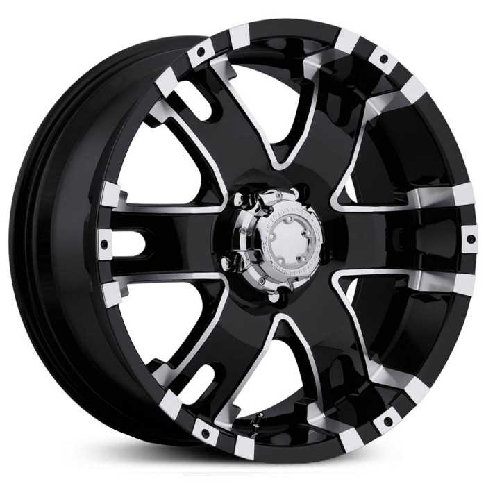 Ultra 201/202B Baron  Wheels Gloss Black w/ Diamond Cut