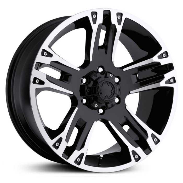 Ultra 234/235B Maverick  Wheels Gloss Black w/ Machined Accents