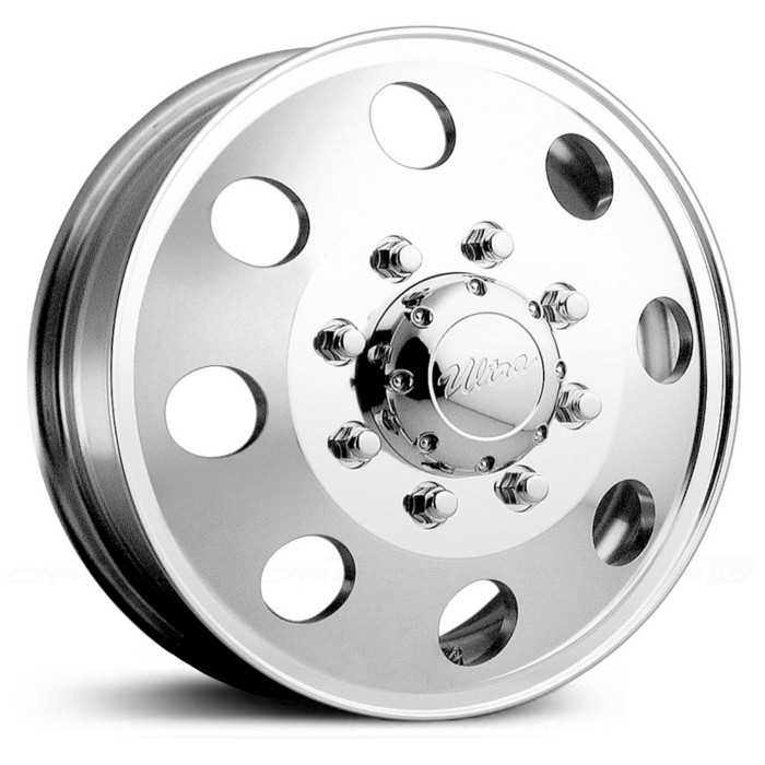 Ultra 02P Modular Dually  Wheels Polished (Front)