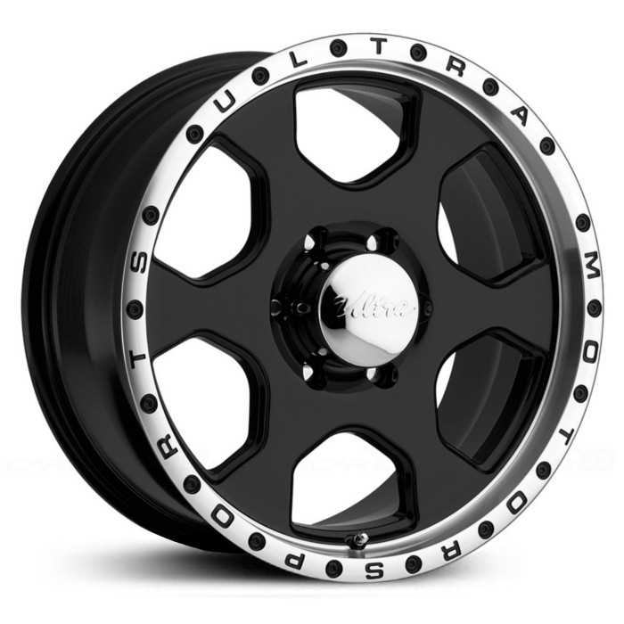Ultra 175B Rogue  Wheels Gloss Black w/ Diamond Cut Lip