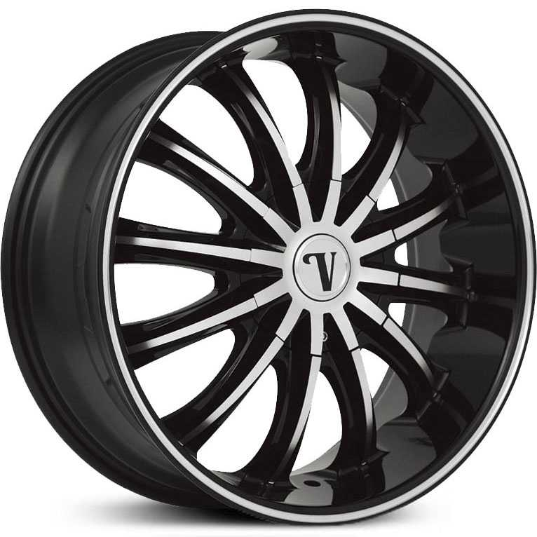 Velocity VW-15  Wheels Black Machined