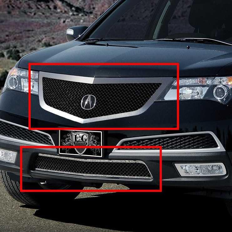 E&G Classics 2010-2013 Acura MDX Grille 2 Pc Heavy Mesh