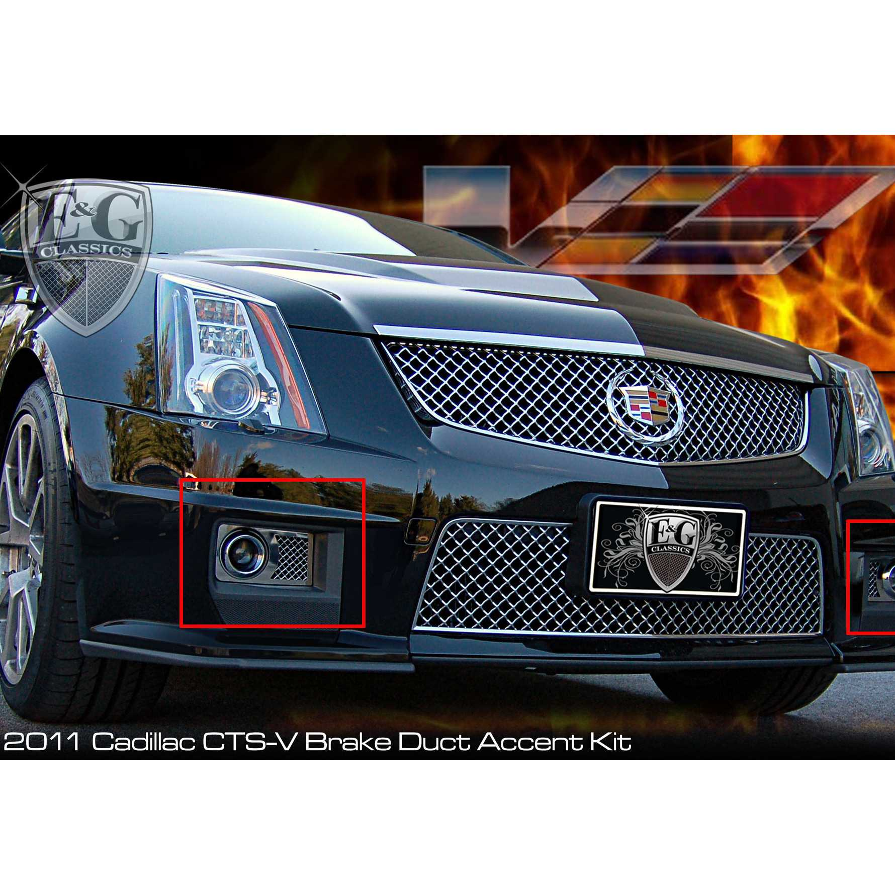 E g classics 2011 2013 cadillac cts accessories front brake duct covers 1416 010w 11
