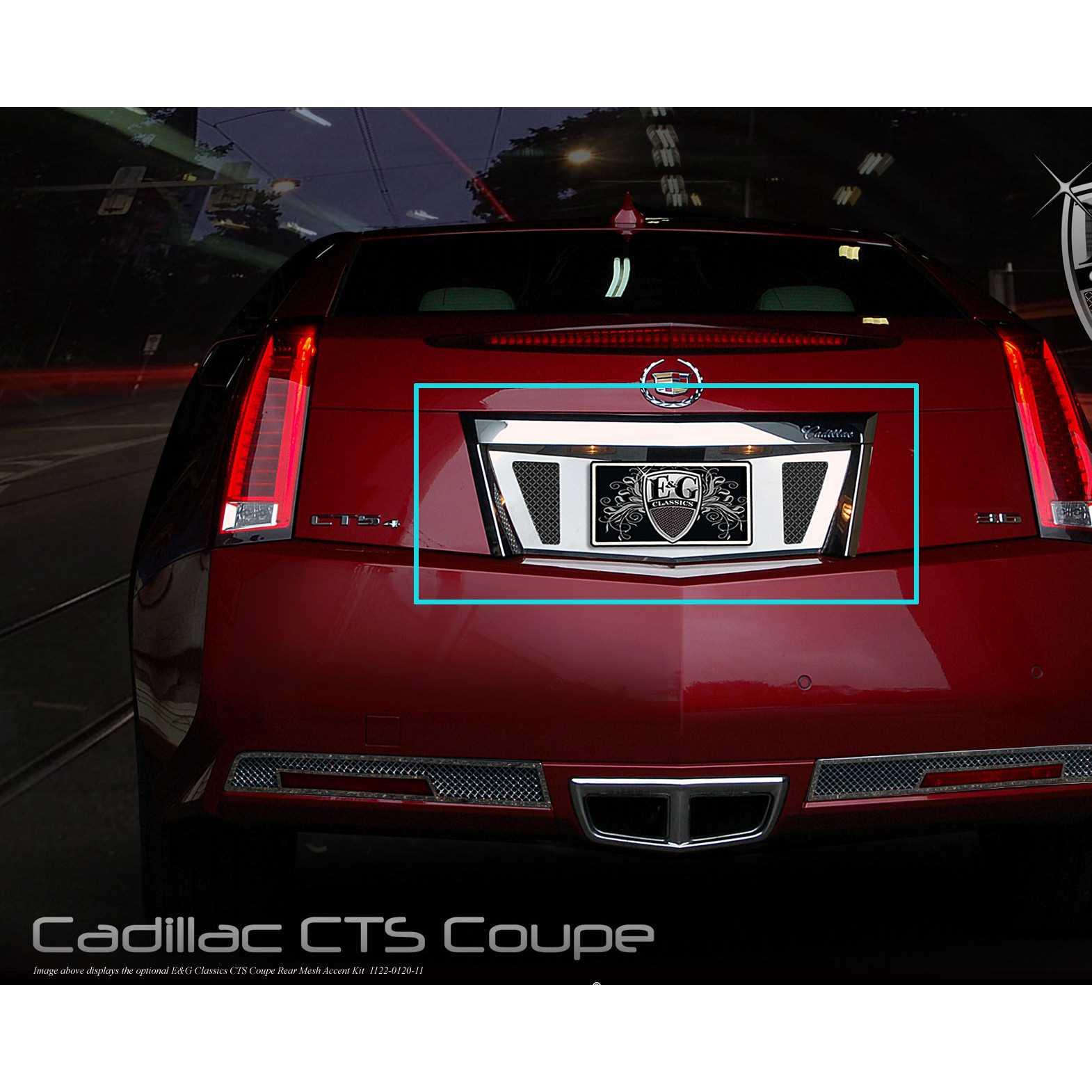 E g classics 2011 2015 cadillac cts accessories coupe rear tag surround w mesh insert black ice 1122 b710 11