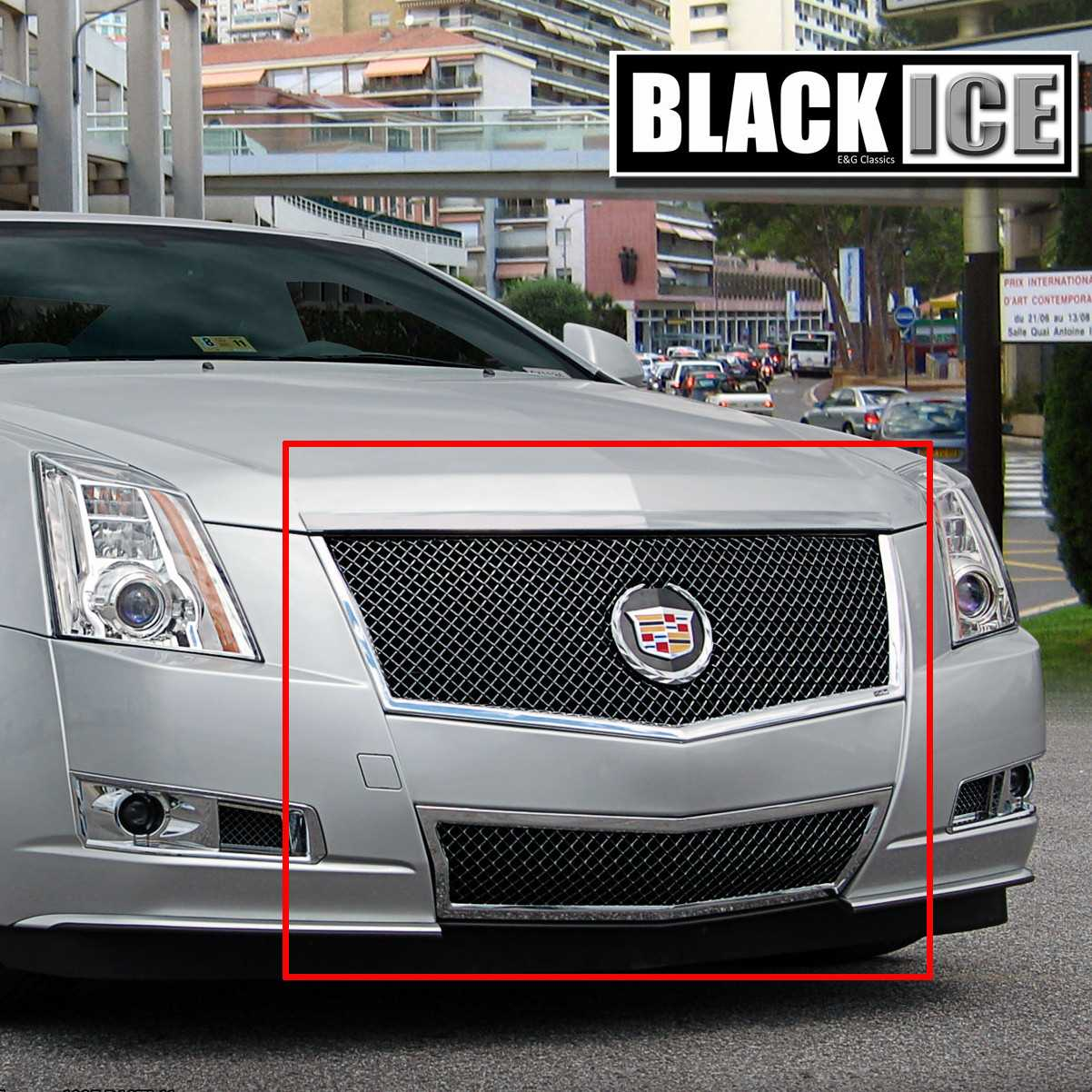"Cadillac Cts 2013 Price: E&G Classics 2008-2013 Cadillac CTS Grille 2Pc ""E Series"" Black Ice Heavy Mesh Grille"