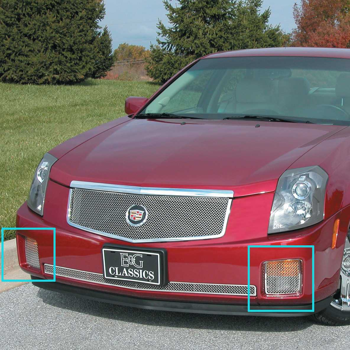 E g classicse g classics 2003 2007 cadillac cts grille classic mesh grille driving light option 1007 010w 03