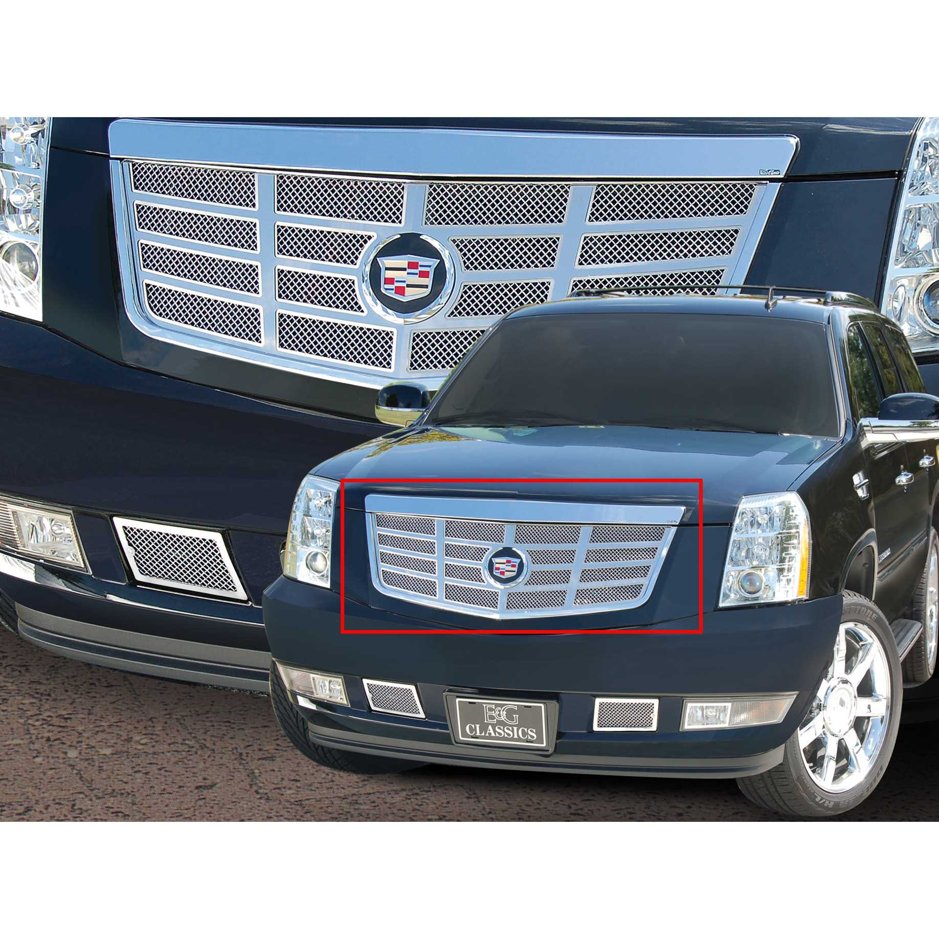 E g classicse g classics 2007 2014 cadillac escalade grille classic sixteen grille upper only 1009 0016 07