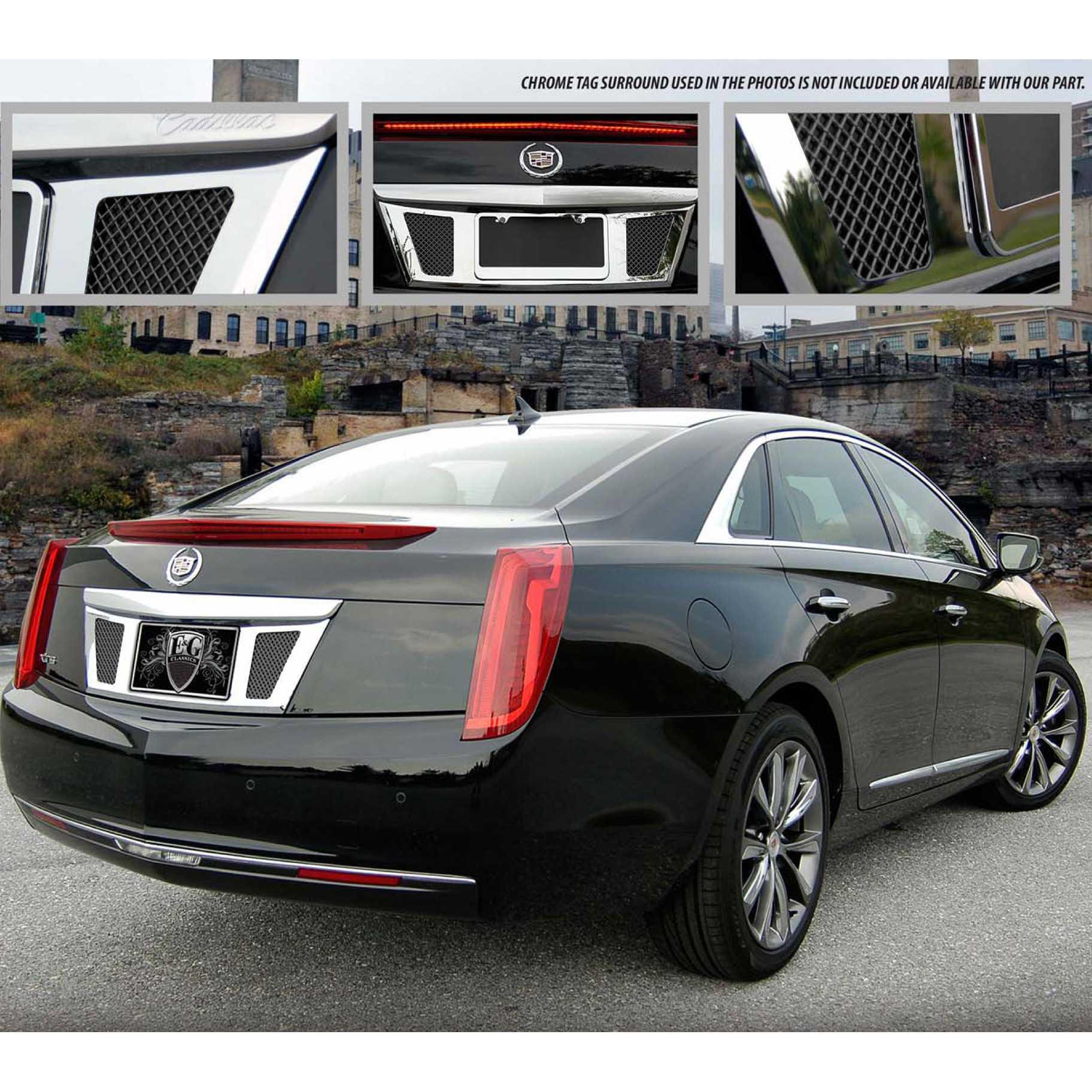 Cadillac 2013 Price: E&G Classics 2013-2016 Cadillac XTS Accessories Classic Rear Tag Surround Black Ice Mesh