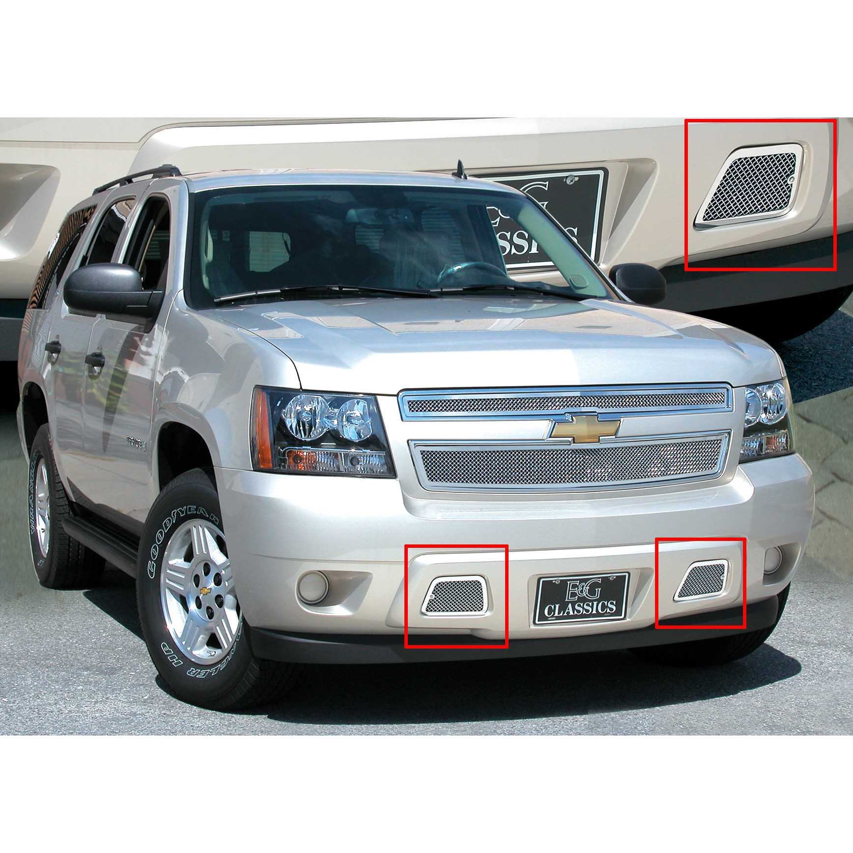E g classics 2007 2014 chevrolet avalanche grille fine mesh tow hook cover 1157 010t 07