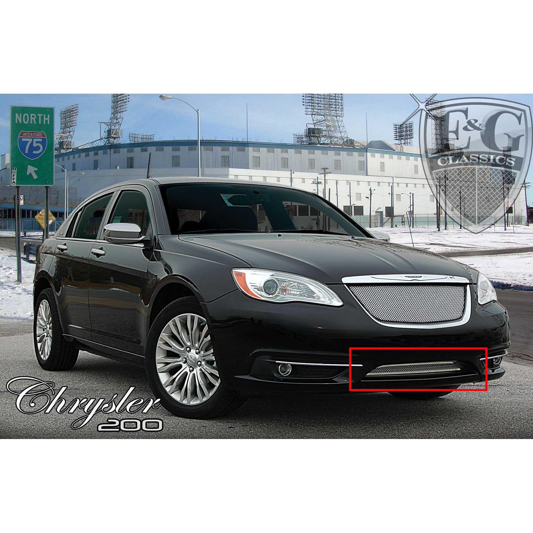 E&G Classics 2011-2014 Chrysler 200 Grille Lower Only Fine