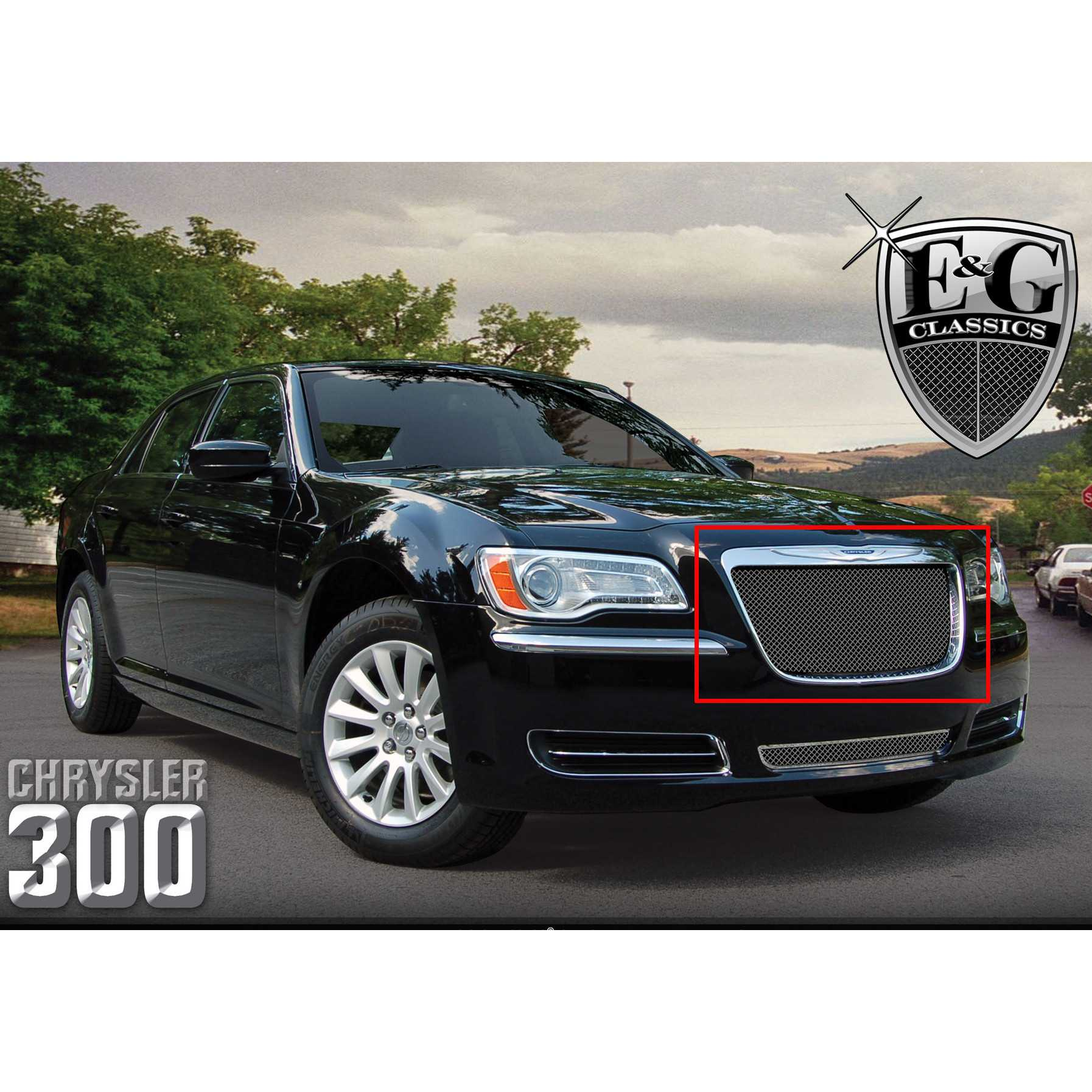 E g classicse g classics 2011 2014 chrysler 300 grille black ice fine mesh upper only grille 1099 b10u 11