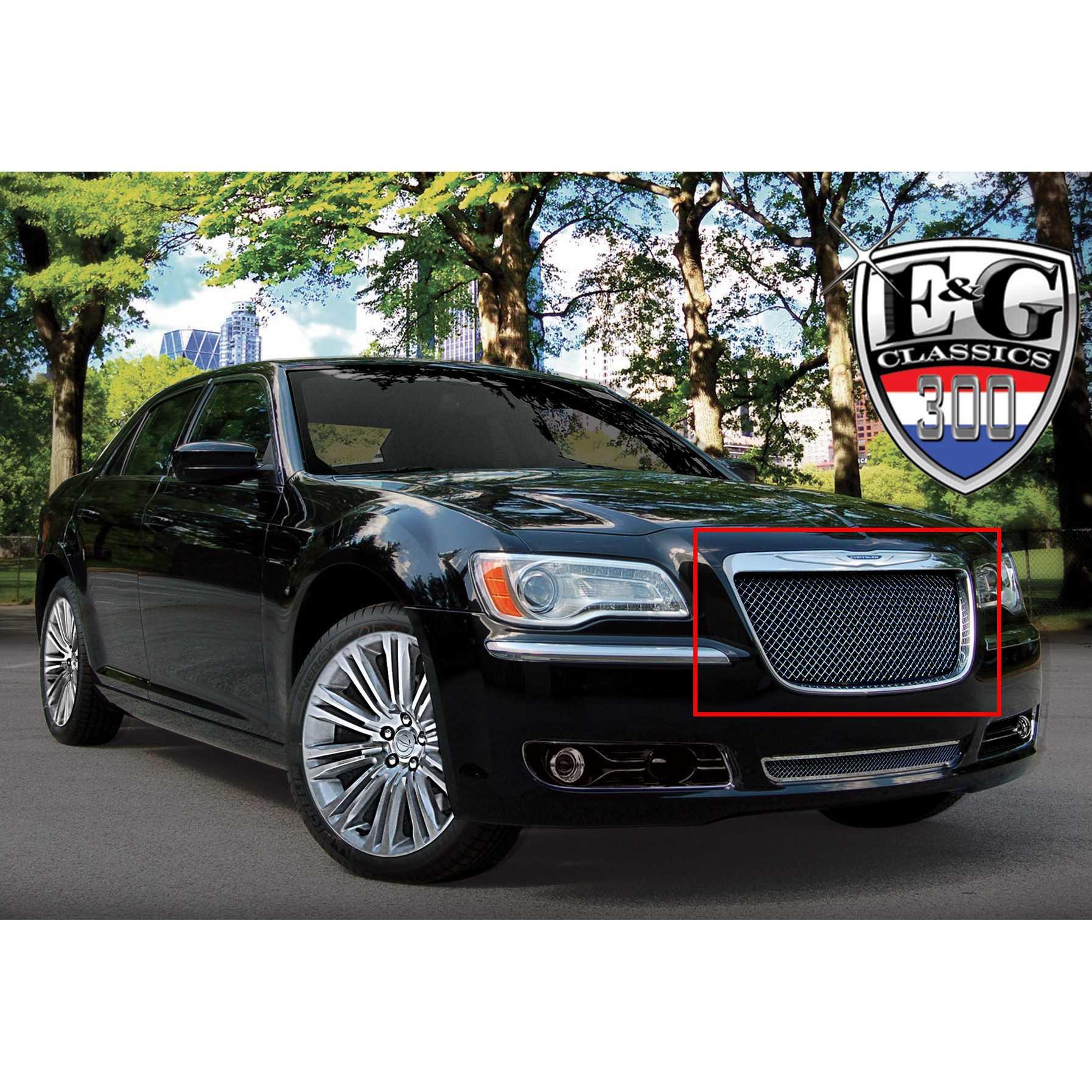 E&G Classics 2011-2014 Chrysler 300 Grille Black Ice Heavy