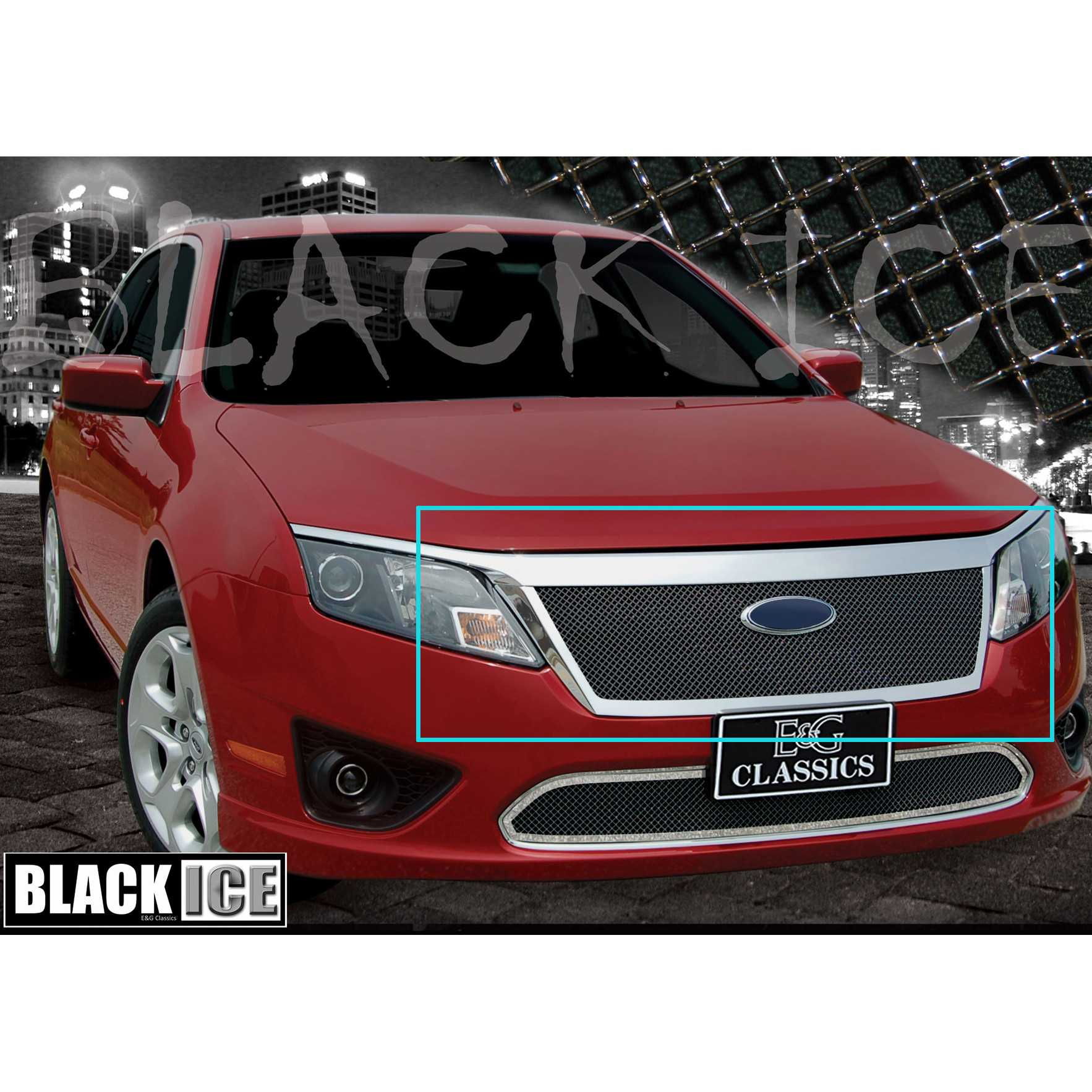 E G Clics 2010 2017 Ford Fusion Grille Fine Mesh Upper Only Black Ice 1359 B10u 10