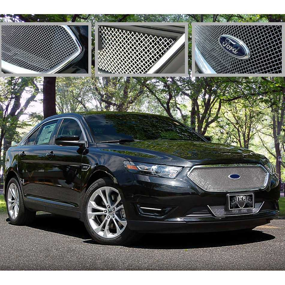 E g classics 2013 2016 ford taurus grille 2 pc fine mesh grille sho only 1043 0102 13sh