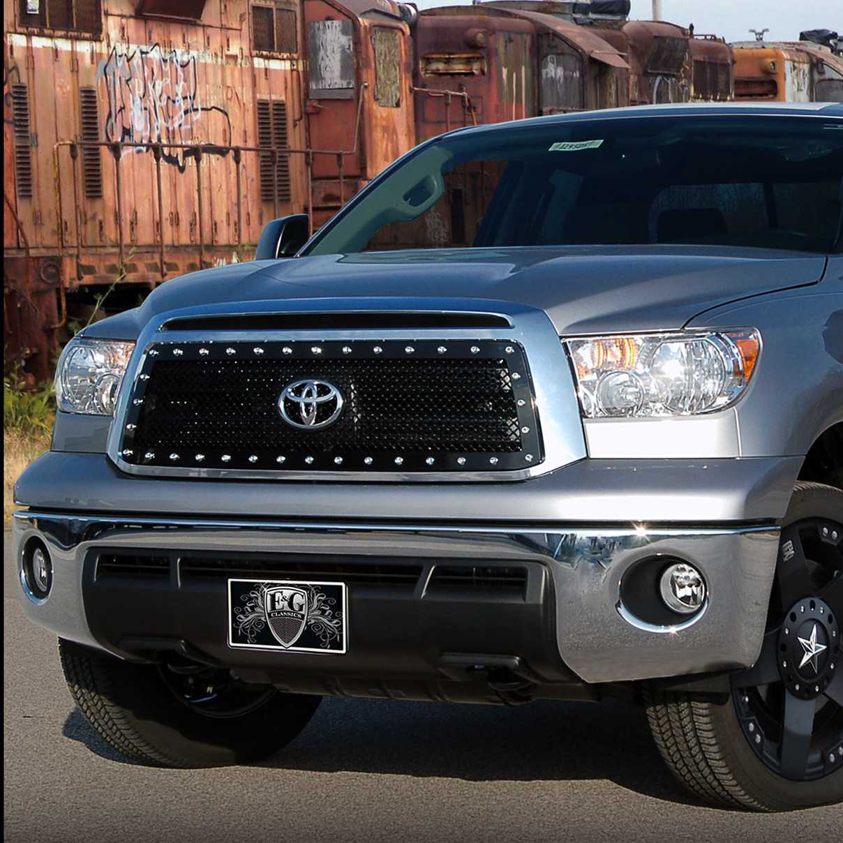 Toyota Tundra Limited >> E&G Classics 2010-2013 Toyota Tundra Grille Upper E-Power Heavy Mesh Grille - Black Mesh - 1276 ...