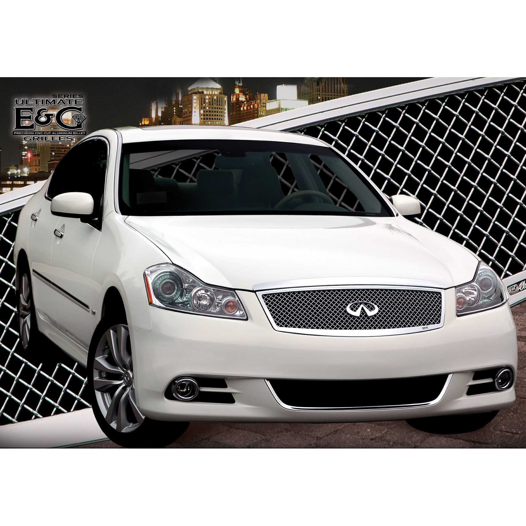 E G Clics 2008 2010 Infiniti M35 M45 Grille Ultimate Heavy Mesh Upper Only 1411 0104 08a