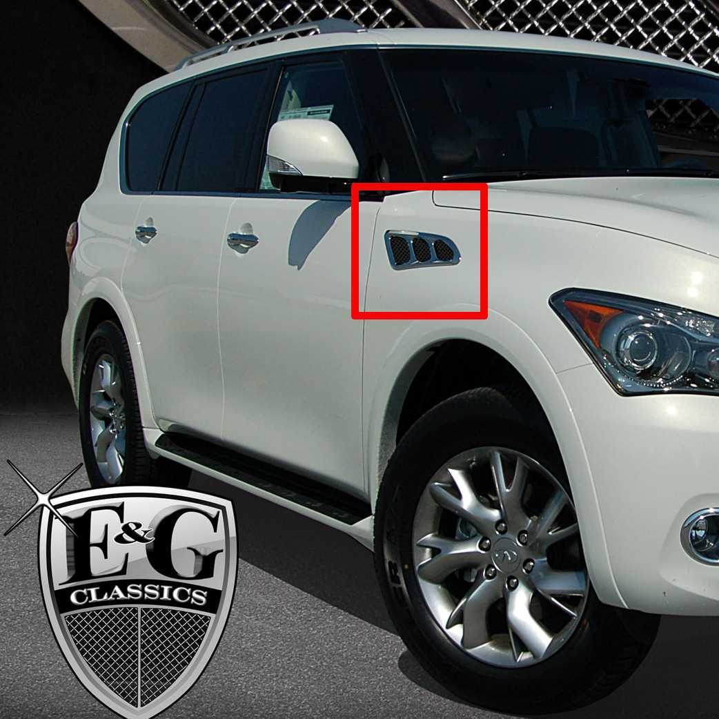 Eg classics 2011 2016 infiniti qx56 qx80 grille 6 pc super available finishes vanachro Image collections