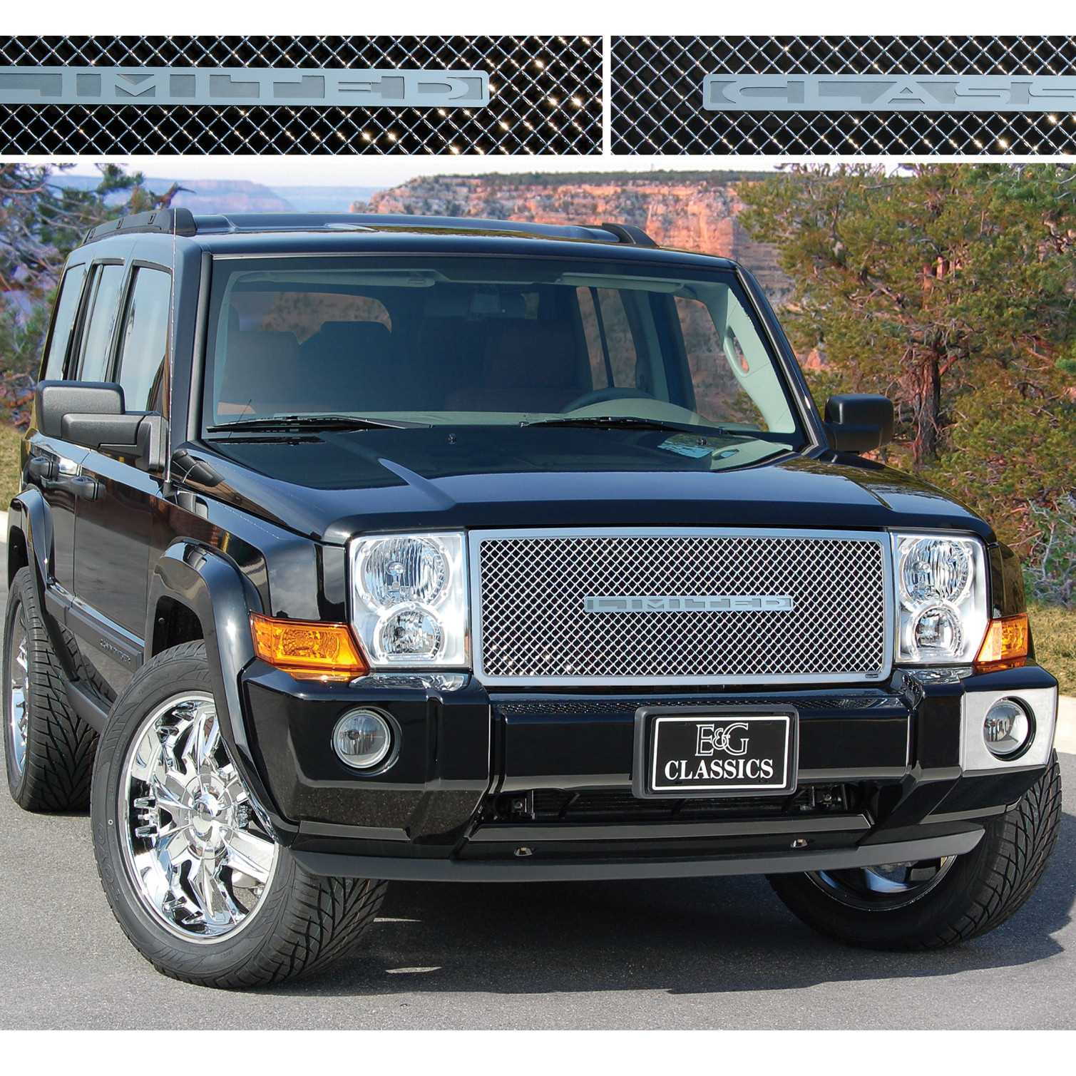 e\u0026g classics 2006 2010 jeep commander grille heavy mesh grille upper Chrysler Pacifica Ground Effects