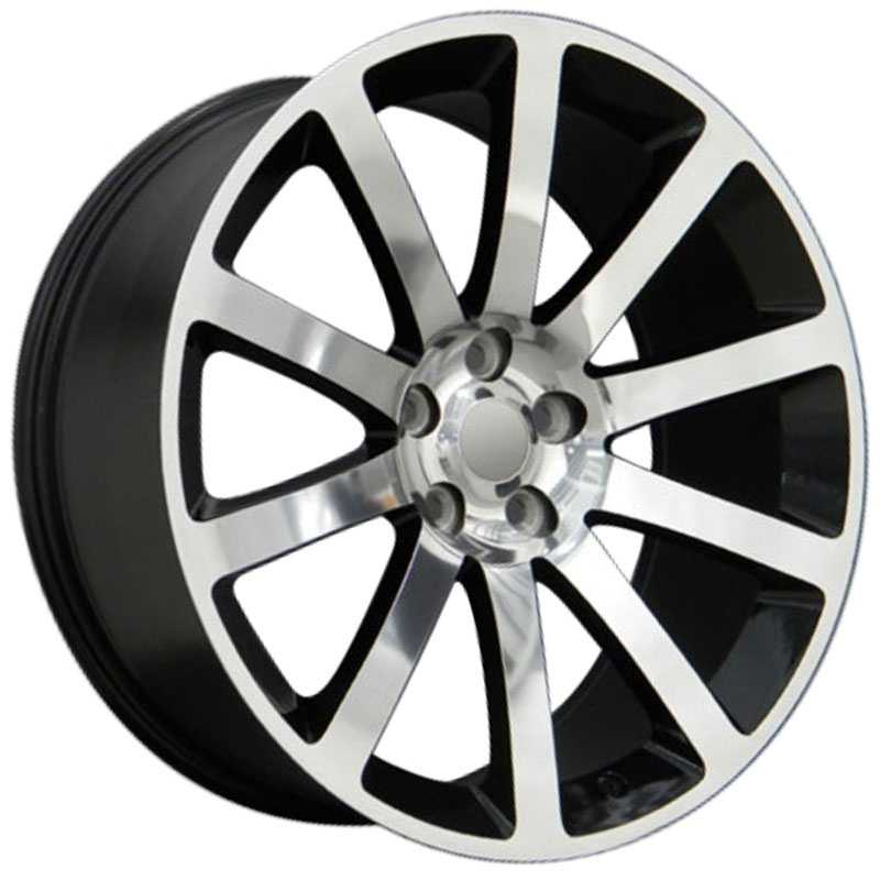 Chrysler 300 SRT Style (CL02)  Wheels Black Machined
