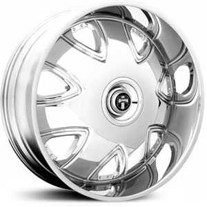 Dub Bandito Floating Cap 136/138  Wheels Chrome