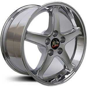 Fits Ford Mustang Cobra Style 5 Lug (FR04) Chrome