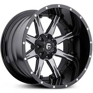 Fuel D251 Nutz  Wheels Black Machined